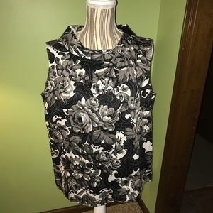 Talbots Sleeveless Cotton Blouse, Size 16